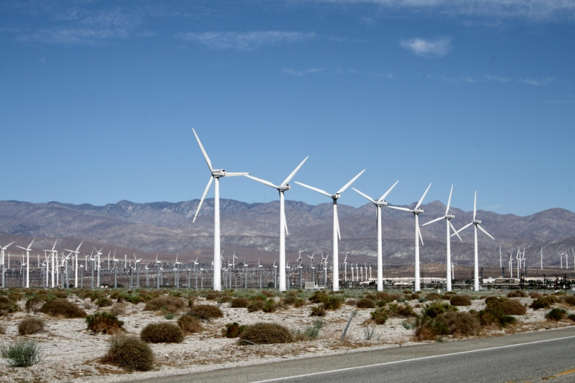 The windmills near Palm Springs